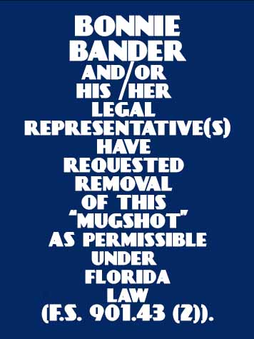 BONNIE BANDER Results from Palm Beach County Florida for  BONNIE BANDER
